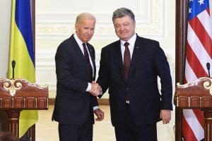 Joe Biden speaking with Ukrainian President Perto Poroshenko two weeks after Donald Trump was elected!